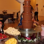 chocolate fountain rental for a Utah wedding