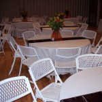 Table, Chair, Linen rental