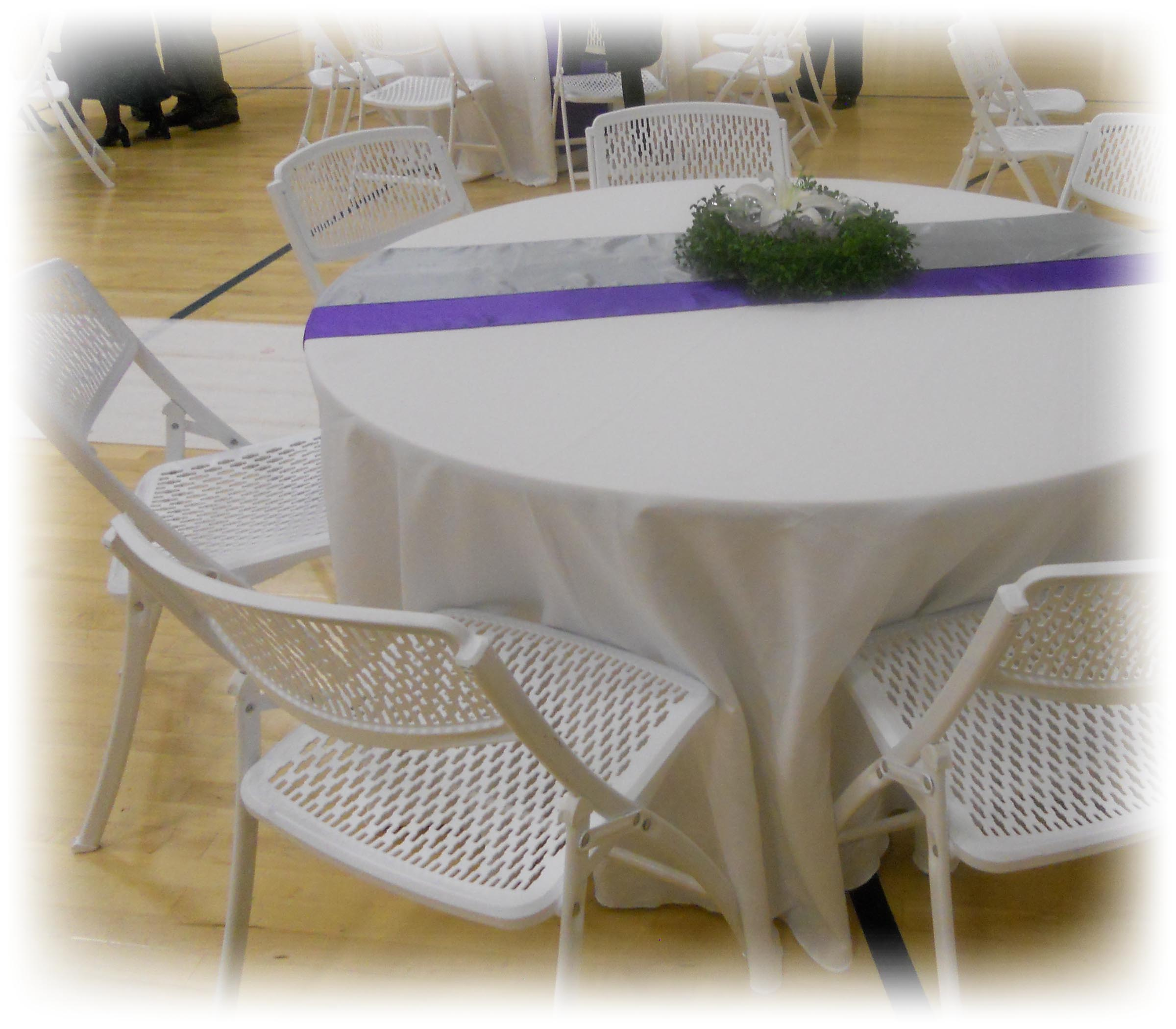 We rent Tables Chairs and Linens in Springville Utah