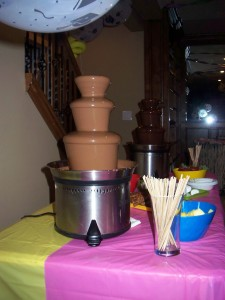 chocolate fountain for birthday