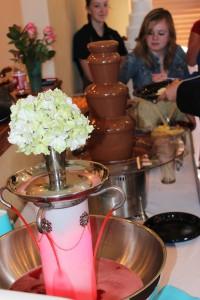 Perfect Utah County Wedding chocolate fountain