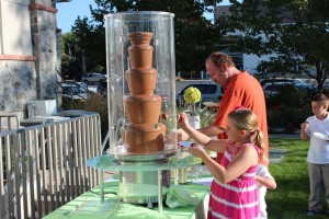 Outdoor chocolate fountains