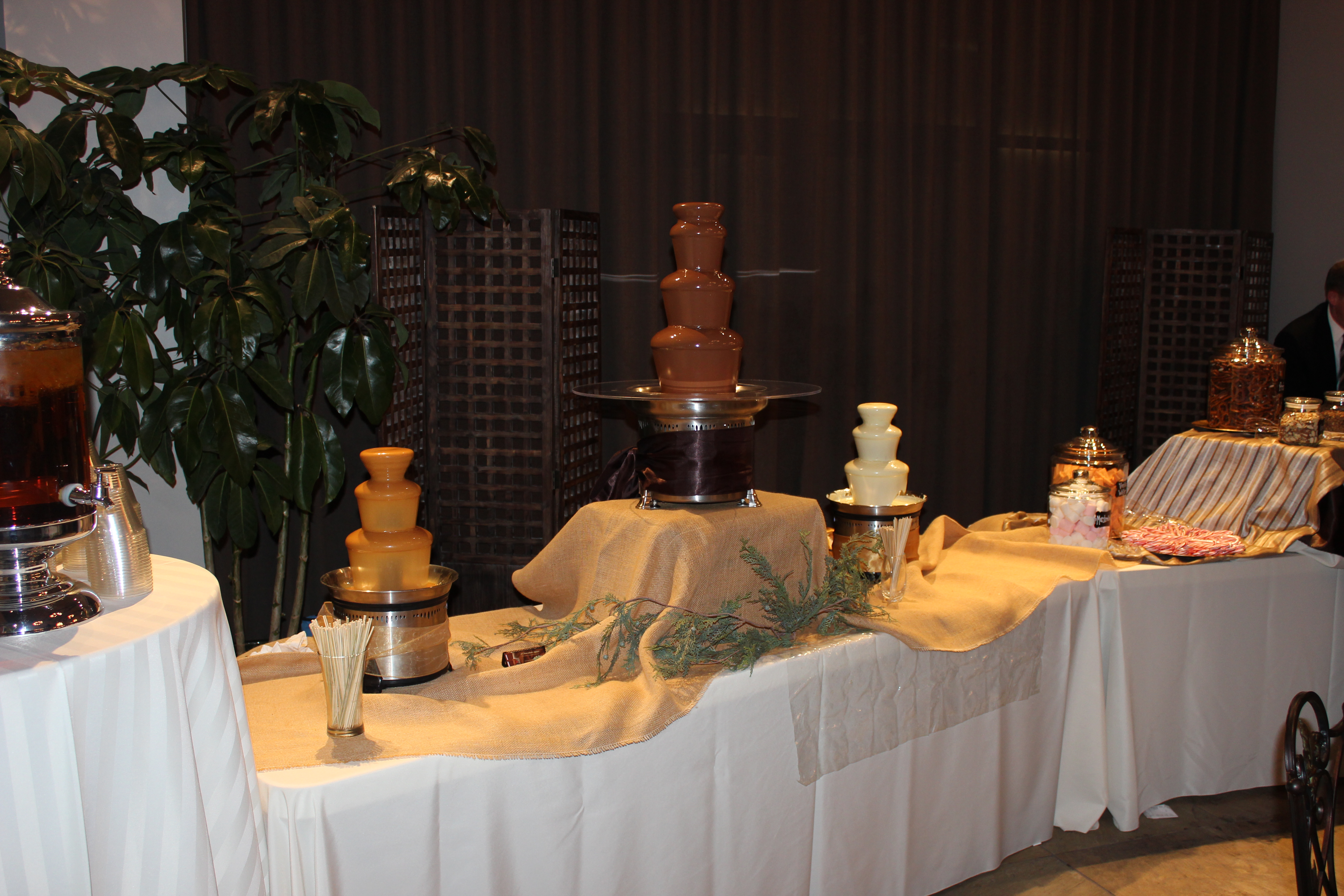 triple chocolate fountain