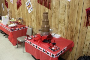 chocolate fountain at birthday party