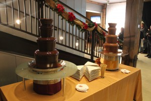 Chocolate fountain in Park City